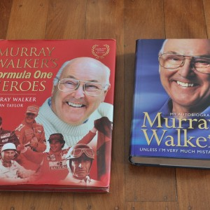 Murray Walker - Formula One hero's.  And Autobiography