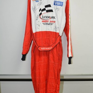 2006 Lexmark Indy 300 Promotional SIGNED Suit