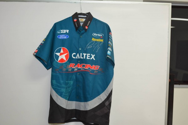 Russell Ingall championship year signed team shirt. - 2005