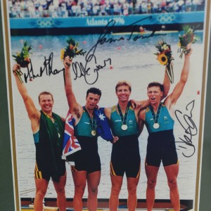 Oarsome Foursome Olympic rowing team Signed photo