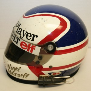 Nigel Mansell race used helmet from 1983