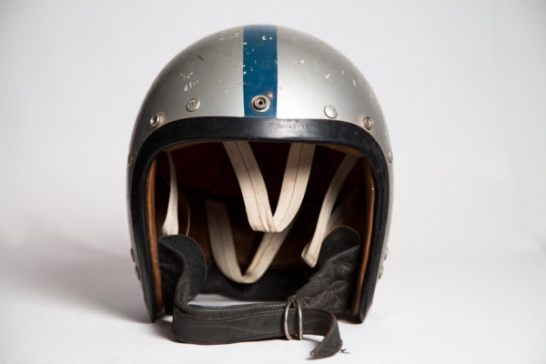 Alan Jones' first helmet