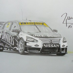V8 Supercar Pencil Drawings