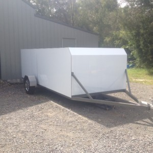 Enclosed Lightweight Car, Go-Kart, Motorcycle Trailer