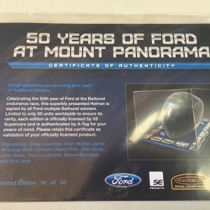 2x Limited addition 50 years of Ford/Holden at Mount Panorama helmets