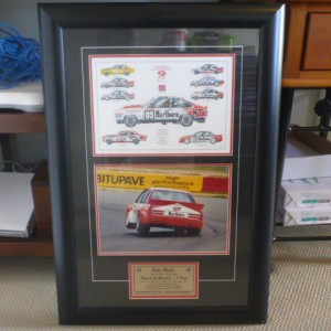 Framed Peter Brock King of the Mountain