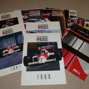 9 Marlboro Autocourse Grand Prix Calendars