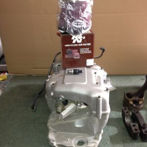 427 BBC tall deck & fuel injection system, complete disassembled motor, some new parts.