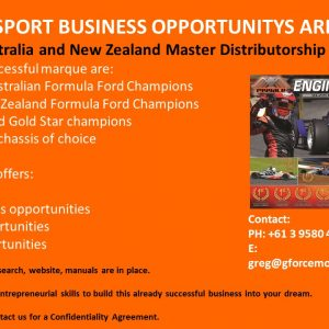 Mygale Australia / NZ business for sale