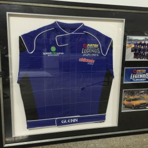 Glenn Seton race suit - framed and signed