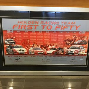 AUTHENTIC Holden Racing Team - First to Fifty Lithograph