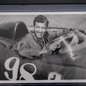 1956 CARROLL AND SHELBY A LEGEND OF A MAN IN A FERRARI  SIGNED AUTHENTICITY FRAMED FREE INSURED SHIPPING AUST WIDE